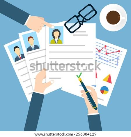 Job interview - stock vector