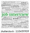 Job  interview concept in word tag cloud on white background - stock vector