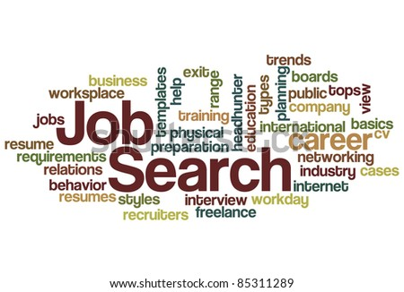 Job Search Word Cloud - stock vector