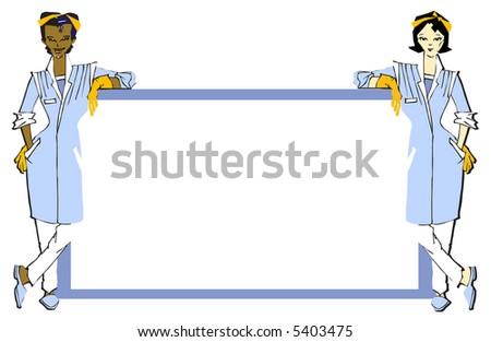 job series - cleaner - stock vector