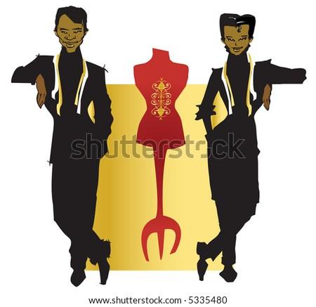 job series -tailor and dressmaker - stock vector