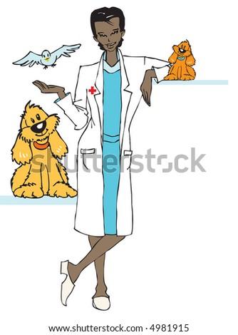 job series - veterinary - stock vector