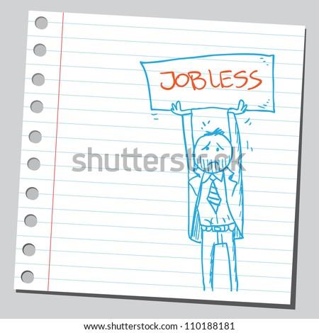 Jobless businessman - stock vector