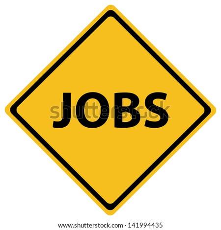 JOBS ROAD SIGN - stock vector