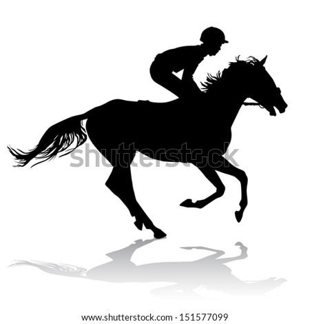 Horse Jockey Logo Jockey Riding a Horse