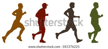 Joggers and Runners - stock vector