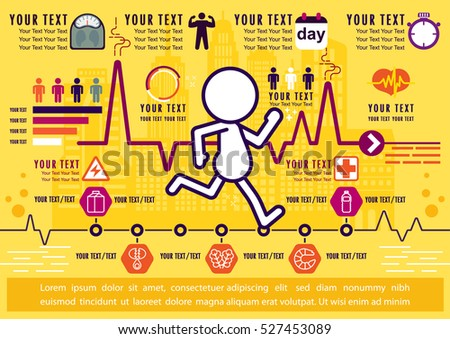 Jogging and Running infographics, Benefits of Running, illustrator Vector