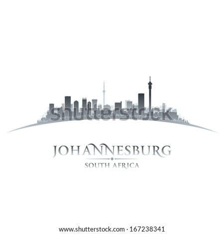 Johannesburg South Africa city skyline silhouette. Vector illustration - stock vector