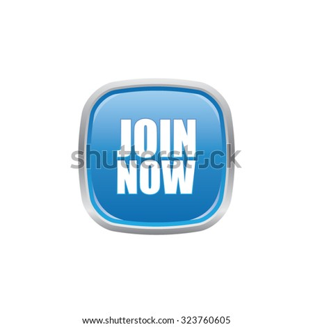 Join Now Button - stock vector