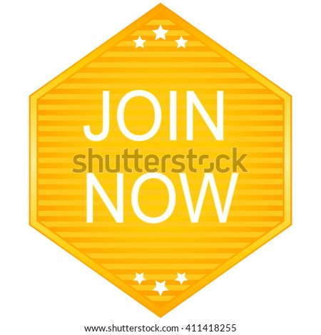Join now vector stickers on white background - stock vector