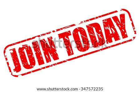 JOIN TODAY red stamp text on white - stock vector