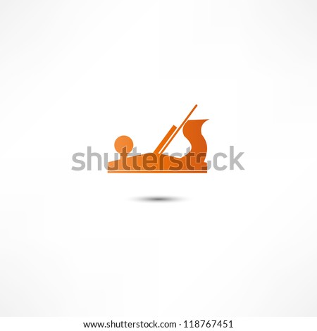 Jointer plane icon - stock vector