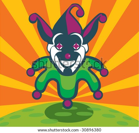 Joker - stock vector