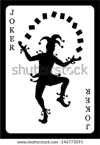 Joker card. Vector background.  - stock vector