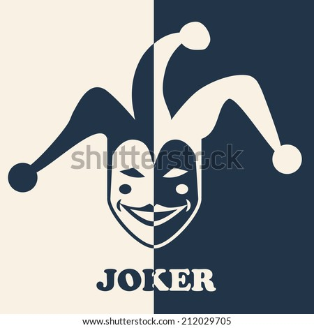 JOKER SYMBOL - stock vector