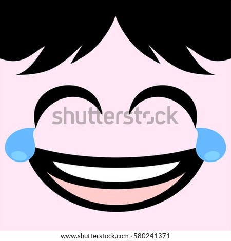 Nervous face design stock vector 581772976 shutterstock joking face draw ccuart Choice Image