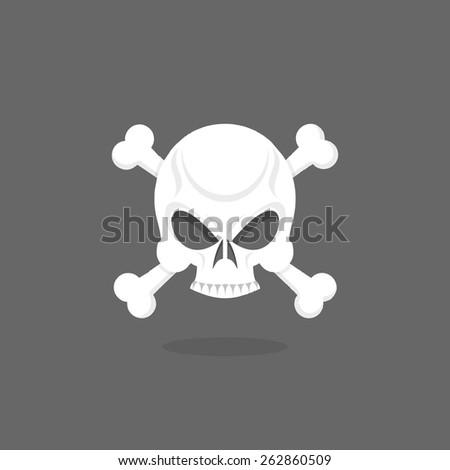 Jolly Roger. Skull and bones. pirate vector flag - stock vector