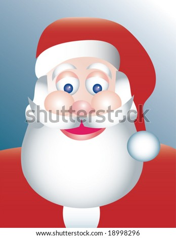 Jolly Santa - Vector - stock vector