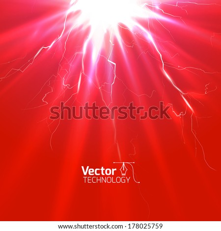Jolt of electricity  - stock vector
