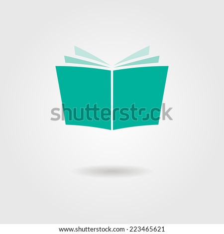 journal icon with shadow. isolated on stylish background. vector illustration - stock vector