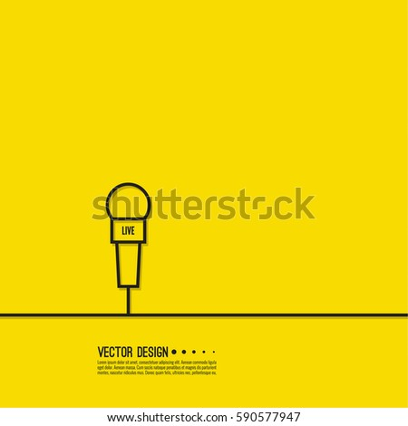 Journalism concept live news template microphone stock vector live news template with microphone symbol breaking news on tv and radio pronofoot35fo Images
