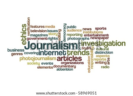 Journalism - Word Cloud - stock vector