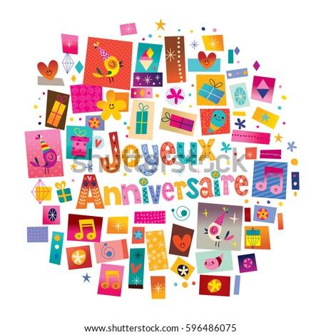 Joyeux Anniversaire Happy Birthday French Greeting – Happy Birthday Greetings in French