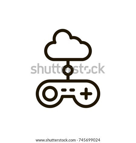 Joystick Flat Icon Single High Quality Stock Vector 745699024