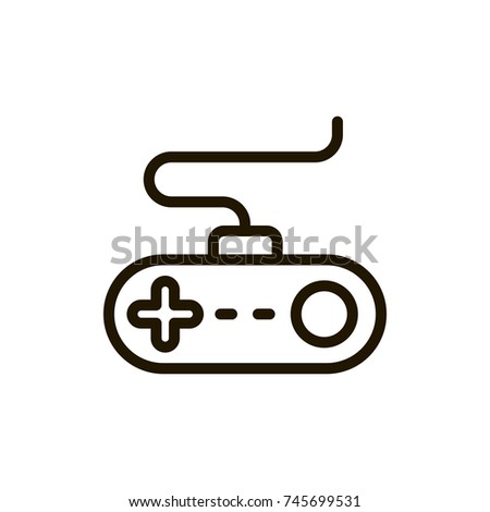 Joystick Flat Icon Single High Quality Stock Vector 745699531