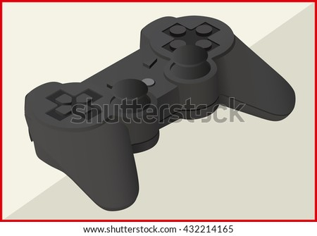 joystick isolated on white background. game pad isometric flat vector 3d illustration - stock vector