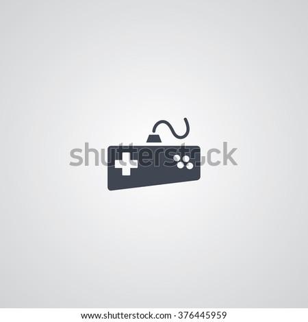 joystick logotype - video game console theme - stock vector