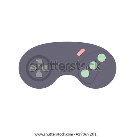 Joystick vector illustration. Vedeo game controller. Joystick for computer game. - stock vector