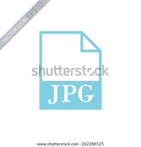 JPG file icon. Vector. - stock vector