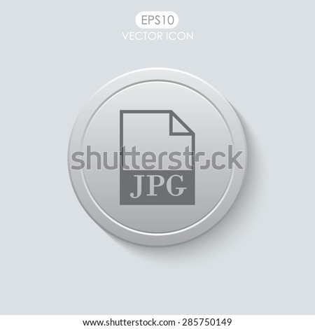 JPG file icon. Vector. - stock vector