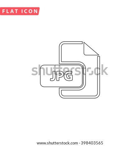 JPG Icon.  - stock vector