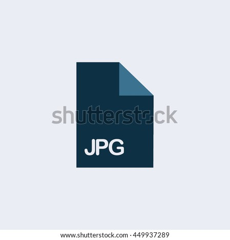 JPG Icon, JPG file icon,extension icon, file icon, format icon - stock vector