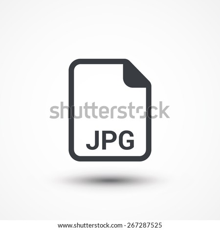 JPG image file extension icon. - stock vector
