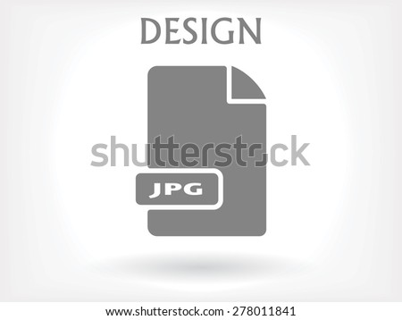 JPG image file extension . vector icon  - stock vector