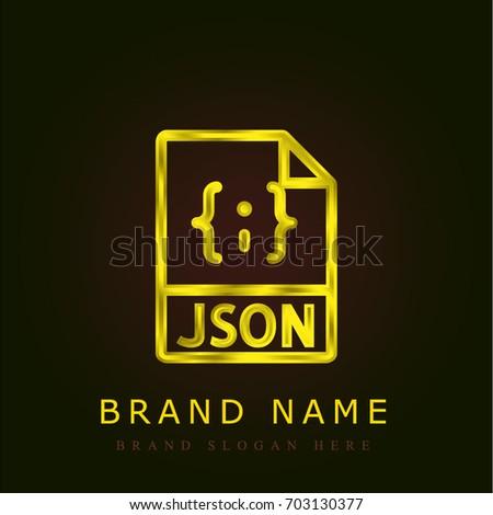 Json file golden metallic logo stock vector hd royalty free json file golden metallic logo urtaz Gallery
