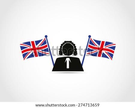 Judge Cross Flags UK - stock vector