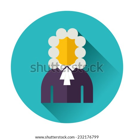 judge icon - stock vector