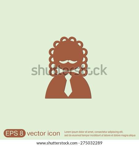 judge icon avatar. symbol of justice - stock vector