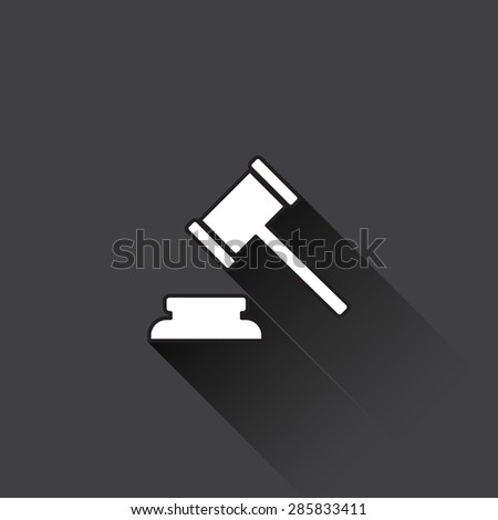Judge or auction hammer icon.Vector illustration - stock vector