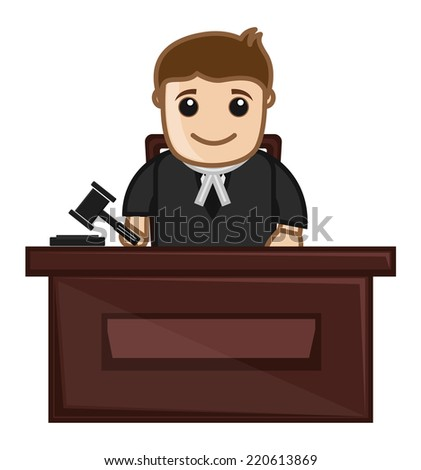 Judge - Vector Character Cartoon Illustration
