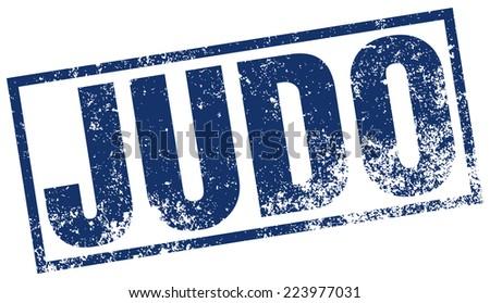 judo stamp - stock vector