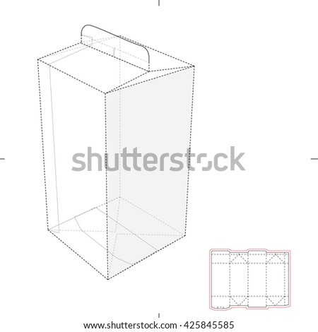 Juice Box with Blueprint Template - stock vector