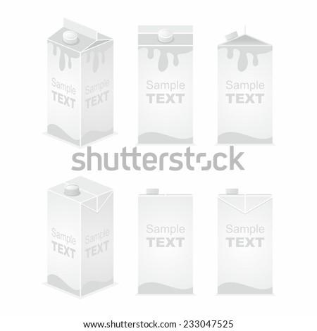 juice pack - stock vector