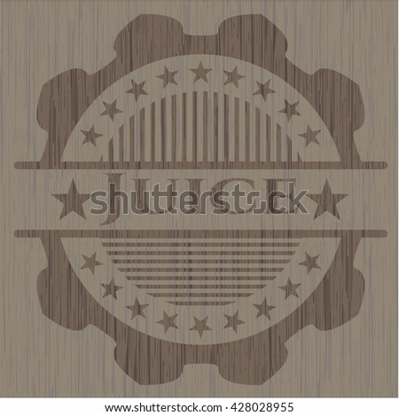 Juice retro style wood emblem