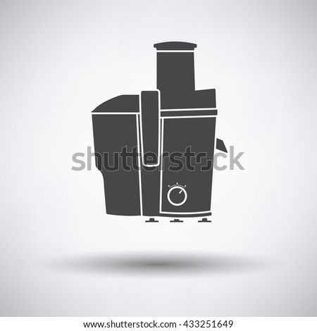 Juicer machine icon on gray background with round shadow. Vector illustration. - stock vector