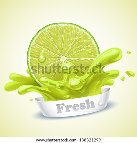 Juicy lime - stock vector